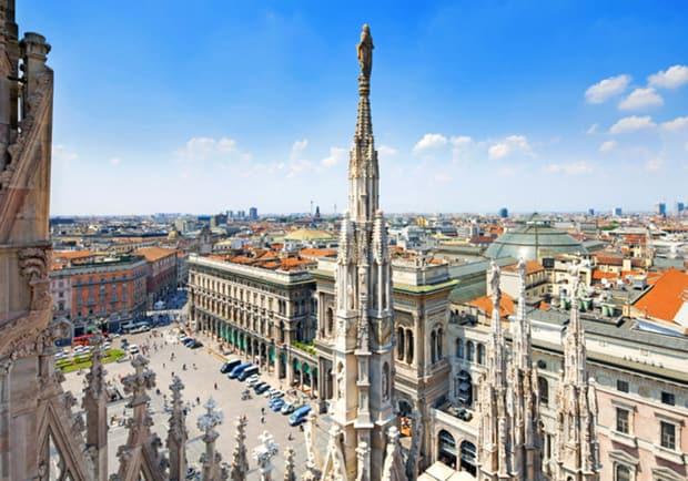 изумительный вид на Милан