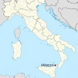 Милаццо на карте Италии