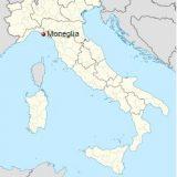 Монелья на карте Италии