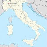 Новара на карте Италии