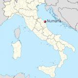 Нумана на карте Италии
