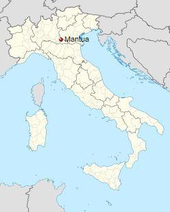 Мантуя на карте Италии