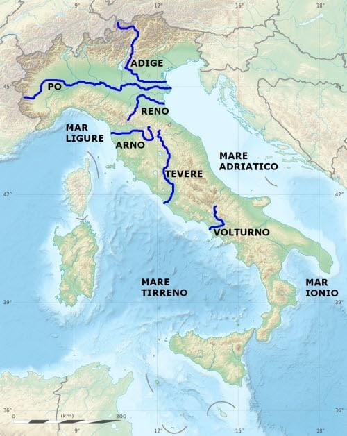 Реки Италии